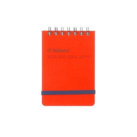 DELFONICS/デルフォニックス ロルバーン ポケット付メモ 縦型 ミニ オレンジ 500058-144