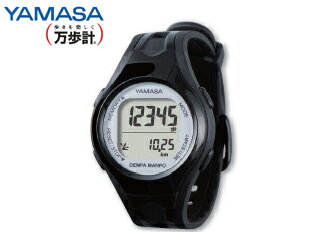 YAMASA/山佐時計計器 TM-450 ウォッチ万歩計 DEMPA MANPO 女性用 (ブラック/シルバー)