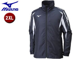 mizuno/ミズノ 32JE8015-14 MCB ウィンドブレーカーシャツ 【2XL】 (ディープネイビー×ホワイト)