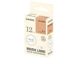 CASIO/カシオ計算機 ネームランド用クラフトテープ 12mm ベージュ/黒文字 XR-12KRBE