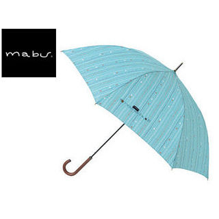 mabu world/マブワールド MBU-MLJ11 長傘 ジャンプ 日傘/晴雨兼用傘 レジェ ワンタッチスリム 全16色 58cm (キャレアクア)