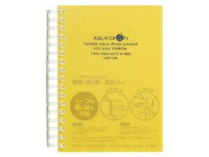 LIHIT LAB./リヒトラブ AQUA DROPs ツイストリング ノート A6 黄 A6判 中紙70枚 N-1665-5