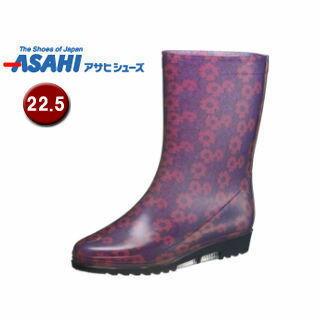 【nightsale】 ASAHI/アサヒシューズ KH37001 アサヒ R300 レディース レインブーツ 【22.5cm・2E】 (パープル)