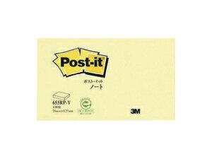 3M スリーエムジャパン Post-it ポストイット 再生紙 ノート イエロー 655RP-Y 縦75×横127mm 21_3mp10 3m_psta
