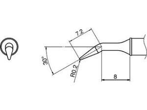 HAKKO/白光 こて先/0.2RLB型 T31-01JL02