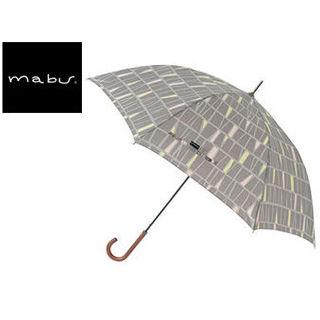 mabu world/マブワールド MBU-MLJ13 長傘 ジャンプ 日傘/晴雨兼用傘 レジェ ワンタッチスリム 全16色 58cm (パヴェグレー)