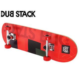 DUB STACK/ダブスタック DSB221-RD コンプリート スケートボード《プラクティスモデル》 (Red)