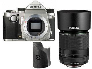 ★\5,000キャッシュバックキャンペーン中!★ PENTAX/ペンタックス KPボディキット(シルバー)+グリップM+HD PENTAX-DA 55-300mmF4.5-6.3ED PLM WR REセット【kpset】