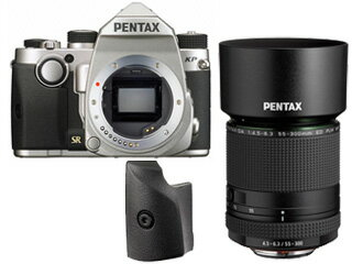 PENTAX/ペンタックス KPボディキット(シルバー)+グリップM+HD PENTAX-DA 55-300mmF4.5-6.3ED PLM WR REセット【kpset】