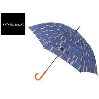 【nightsale】 mabu world/マブワールド MBU-MLJ14 長傘 ジャンプ 日傘/晴雨兼用傘 レジェ ワンタッチスリム 全16色 58cm (パヴェブルー)