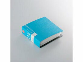BUFFALO/バッファロー BSCD01F24BL CD&DVDファイルケース ブックタイプ 24枚収納 ブルー