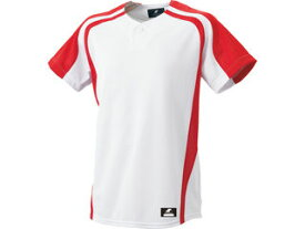 SSK/エスエスケイ BW0906-1020 1ボタンプレゲームシャツ 【S】 (ホワイト×レッド)