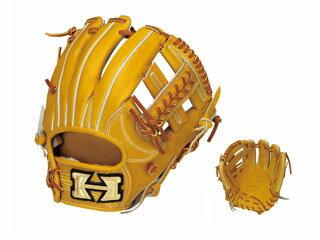 HI-GOLD/ハイゴールド KKG-1146 二塁手・遊撃手用硬式グラブ 心極和牛 (ライトタン×タン) 【右投げ用】