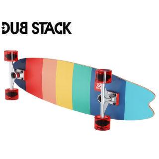 DUB STACK/ダブスタック LSB238-ML ロングスケートボード (マルチカラー)
