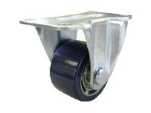 YUEI CASTER/ユーエイ 重量用キャスター 固定車 65径 アルミホイルウレタン車輪 HR-65AU