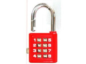 WAKI/和気産業 プッシュボタンロック TW-911 35mm 赤