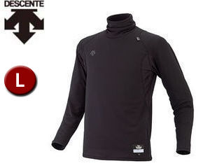 DESCENTE/デサント STD645-BLK タートルネック 長袖 リラックスFITシャツ 【L】 (ブラック)