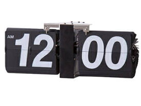 東谷/あづまや FLIP CLOCK/フリップクロック ブラック 掛け置き兼用 CLK-118BK ※単一電池1本(別売)使用
