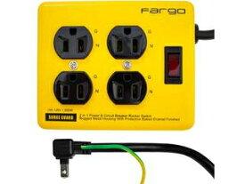 Fargo/ファーゴ スチールタップ AC4個口 3ピン コード長1.8m イエロー PT400YE