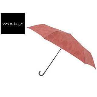 mabu world/マブワールド MBU-MLM02 折りたたみ傘 手開き 日傘/晴雨兼用傘 レジェ フラット 全16色 49.5cm (フォレストレッド)