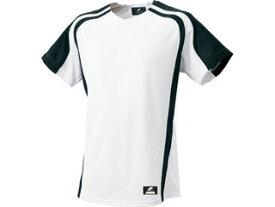 SSK/エスエスケイ BW0906-1090 1ボタンプレゲームシャツ 【S】 (ホワイト×ブラック)