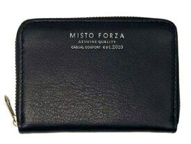 Misto Forza/ミストフォルツァ FMW01 イタリアンレザーラウンドカードケース (ブラック)