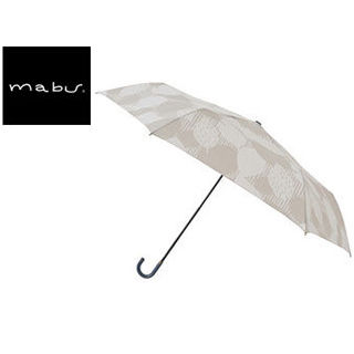 mabu world/マブワールド MBU-MLM03 折りたたみ傘 手開き 日傘/晴雨兼用傘 レジェ フラット 全16色 49.5cm (リーフオフ)