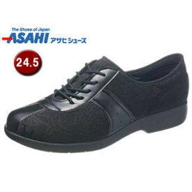 ASAHI/アサヒシューズ KS23383 快歩主義 L123 レディース コンフォートシューズ 【24.5cm・3E】 (ブラック)