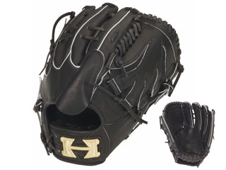 HI-GOLD/ハイゴールド KKG-1141 硬式グラブ投手用 心極和牛 (ブラック) 【左投げ用】