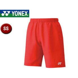 YONEX/ヨネックス 15048-496 UNIハーフパンツ(スリムフィット) 【SS】 (サンセットレッド)