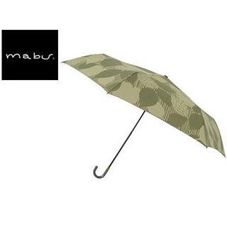 mabu world/マブワールド MBU-MLM04 折りたたみ傘 手開き 日傘/晴雨兼用傘 レジェ フラット 全16色 49.5cm (リーフバジル)
