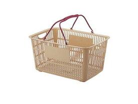 ショッピングバスケット/U−33 ベージュ/エンジ