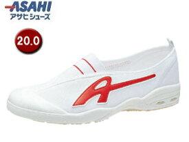 ASAHI/アサヒシューズ KD38582 アサヒドライスクール009EC【20.0cm・2E】 (レッド)