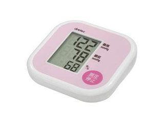 ドリテック 上腕式血圧計 軽くてコンパクト 簡単操作のシンプルな血圧計 BM-201 ピンク