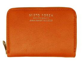 Misto Forza/ミストフォルツァ FMW01 イタリアンレザーラウンドカードケース (オレンジ)