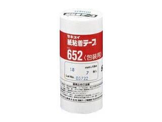 SEKISUI/セキスイ 紙粘着テープ NO.652 18mm 7巻 K652X03