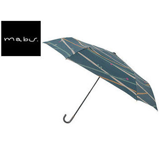 mabu world/マブワールド MBU-MLM06 折りたたみ傘 手開き 日傘/晴雨兼用傘 レジェ フラット 49.5cm (ツイギーフォレストグリーン)