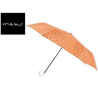 mabu world/マブワールド MBU-MLM08 折りたたみ傘 手開き 日傘/晴雨兼用傘 レジェ フラット 全16色 49.5cm (バブルオランジュ)