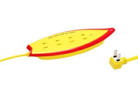 Fargo/ファーゴ Surf Tap/サーフタップ 雷サージガード付 AC4個口 コード長1.5m イエロー PT406YE