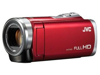 【希望小売価格9,720円の予備電池付きでこの価格!】 JVC/Victor/ビクター GZ-E109-R(レッド)+BN-VG119 リチウムイオンバッテリーセット