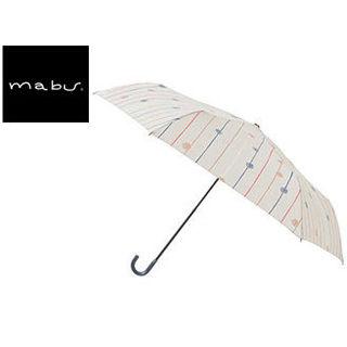 mabu world/マブワールド MBU-MLM10 折りたたみ傘 手開き 日傘/晴雨兼用傘 レジェ フラット 全16色 49.5cm (フルールドロップオフ)