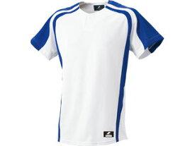 SSK/エスエスケイ BW0906-1063 1ボタンプレゲームシャツ 【L】 (ホワイト×Dブルー)