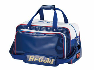HI-GOLD/ハイゴールド HB-300 エナメルショルダーバッグ ワイドレギュラー 【37L】(Dブルー×ホワイト×レッドパイピング)