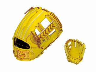 HI-GOLD/ハイゴールド WKG-4016 二塁手・遊撃手用硬式グラブ 技極スペシャル (ナチュラルイエロー×タン) 【右投げ用】