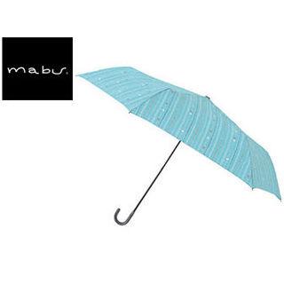 mabu world/マブワールド MBU-MLM11 折りたたみ傘 手開き 日傘/晴雨兼用傘 レジェ フラット 全16色 49.5cm (キャレアクア)