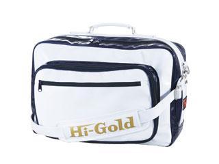 HI-GOLD/ハイゴールド HB-9400 エナメルショルダーバッグ ラージサイズ 【52L】(ホワイト×ネイビー)