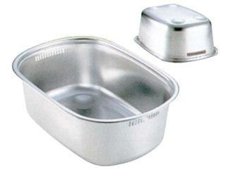 SHINETSU/新越ワークス 18−8 小判型 洗い桶(足付)