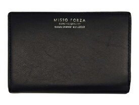 Misto Forza/ミストフォルツァ FMW03 イタリアンレザー二つ折りラウンド財布 (ブラック)