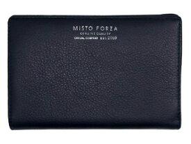 Misto Forza/ミストフォルツァ FMW03 イタリアンレザー二つ折りラウンド財布 (ネイビー)