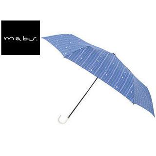mabu world/マブワールド MBU-MLM12 折りたたみ傘 手開き 日傘/晴雨兼用傘 レジェ フラット 全16色 49.5cm (キャレネイビー)